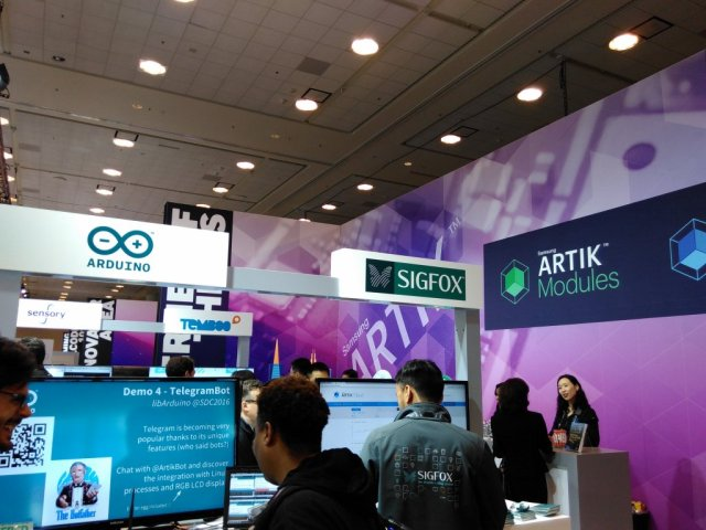 Temboo at the ARTIK booth at SDC 2016