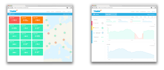 Device monitoring, sensor data visualization, and remote control with Temboo Cloud Controls