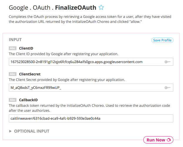 The Illustrated Guide to Google OAuth with Temboo