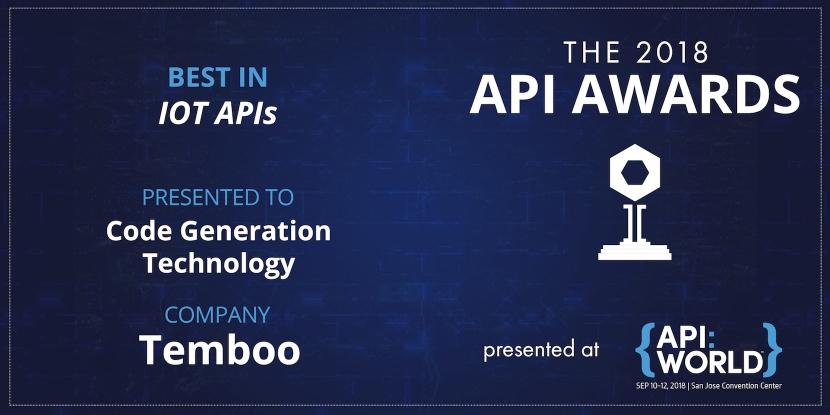 Temboo API Award